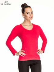 Różowa bluzka sportowa basic PLUS SIZE