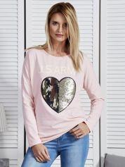 Różowa bluzka z napisem U.S. ARMY i sercem