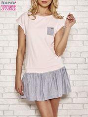 Różowa dresowa sukienka tenisowa z kieszonką