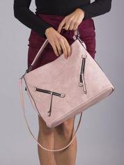 Różowa miejska torba damska