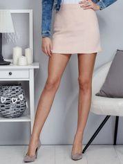 Różowa spódnica damska o kroju trapezu
