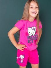 Różowe szorty dla dziewczynki motyw HELLO KITTY
