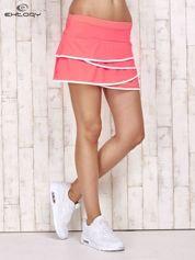 Różowo-białe spodenki spódniczka tenisowa z falbanką