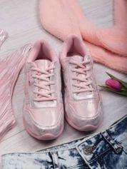 Różowoperłowe buty sportowe combined Baron na miękkiej podeszwie