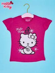 Różowy t-shirt dla dziewczynki HELLO KITTY