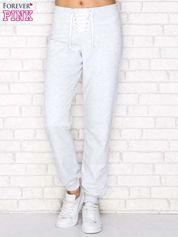 Spodnie dresowe lace up szare