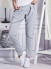 Spodnie dresowe z zakładkami szare