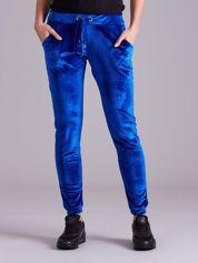 Spodnie z weluru niebieskie
