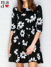 Sukienka w kwiaty czarna