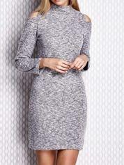 Sukienka z rękawami cut out szara