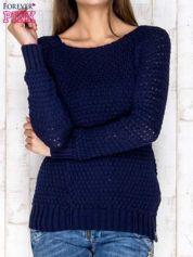 Sweter granatowy z suwakiem