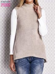 Sweter lace up beżowy