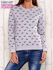 Szara bluza motyw kokardek