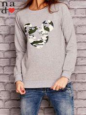 Szara bluza z nadrukiem moro