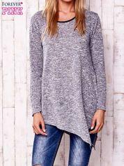 Szara melanżowa asymetryczna bluzka