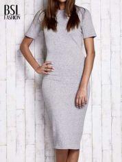 Szara melanżowa długa sukienka