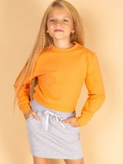 Szara spódnica dla dziewczynki ze wstążką