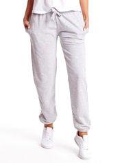 Szare spodnie dresowe z ściągaczami