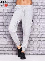 Szare spodnie dresowe z zasuwaną kieszonką