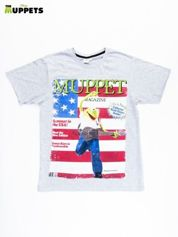 Szary t-shirt męski THE MUPPETS