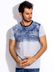 Szary t-shirt męski ombre