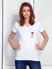T-shirt biały dla par z nadrukiem