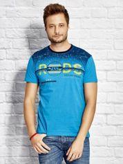 T-shirt męski z nadrukiem morski