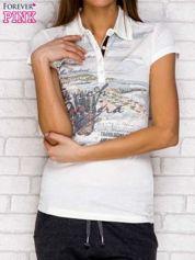 T-shirt z malarskim nadrukiem ecru