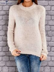 TOM TAILOR Beżowy włóczkowy sweter