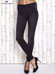 TOM TAILOR Czarne spodnie skinny jeans z dżetami