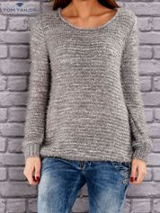 TOM TAILOR Szary melanżowy sweter fluffy