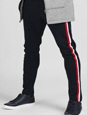 TOMMY LIFE Granatowe spodnie męskie