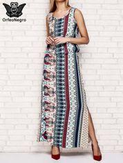 Wielokolorowa sukienka grecka w kwiatowe wzory
