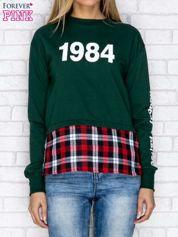 Zielona bluza z koszulowym dołem
