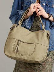 Zielona damska torba z ekoskóry