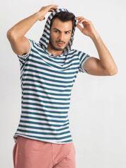 Zielono-biały t-shirt męski Looper