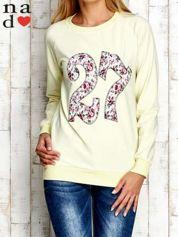 Żółta bluza z cyfrą 27