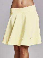 Żółta spódnica dresowa skater