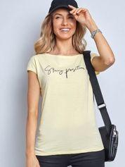 Żółty t-shirt Sunny