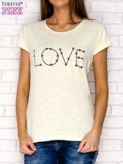 Żółty t-shirt z napisem LOVE