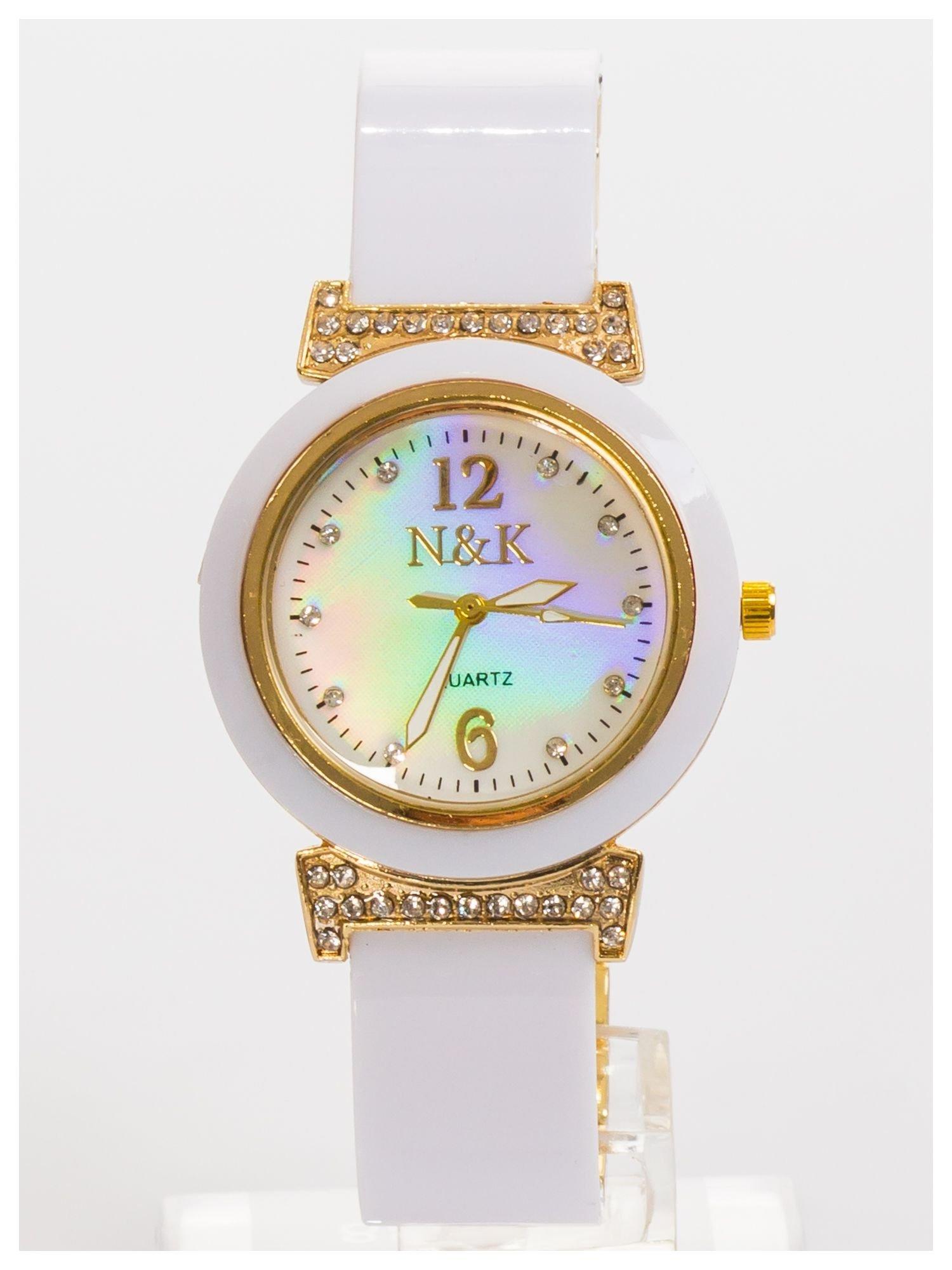 N&K Zegarek damski z perłową tarczą na bransolecie                                  zdj.                                  2