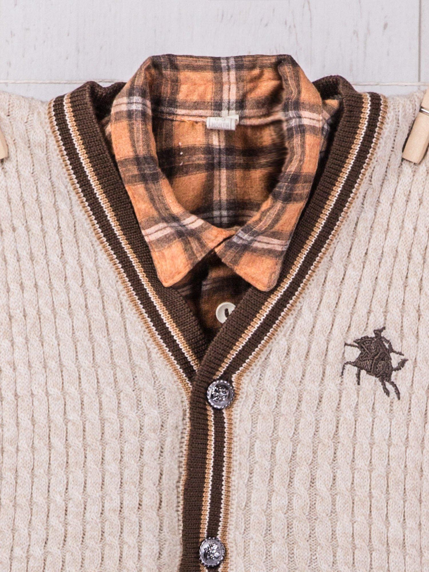 3 częściowy wizytowy zestaw niemowlęcy sweterek koszula i  9SYsR