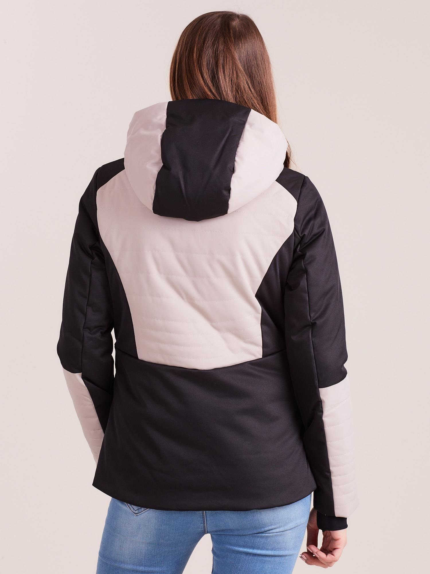 kurtka beżowa narciarska damska 4f