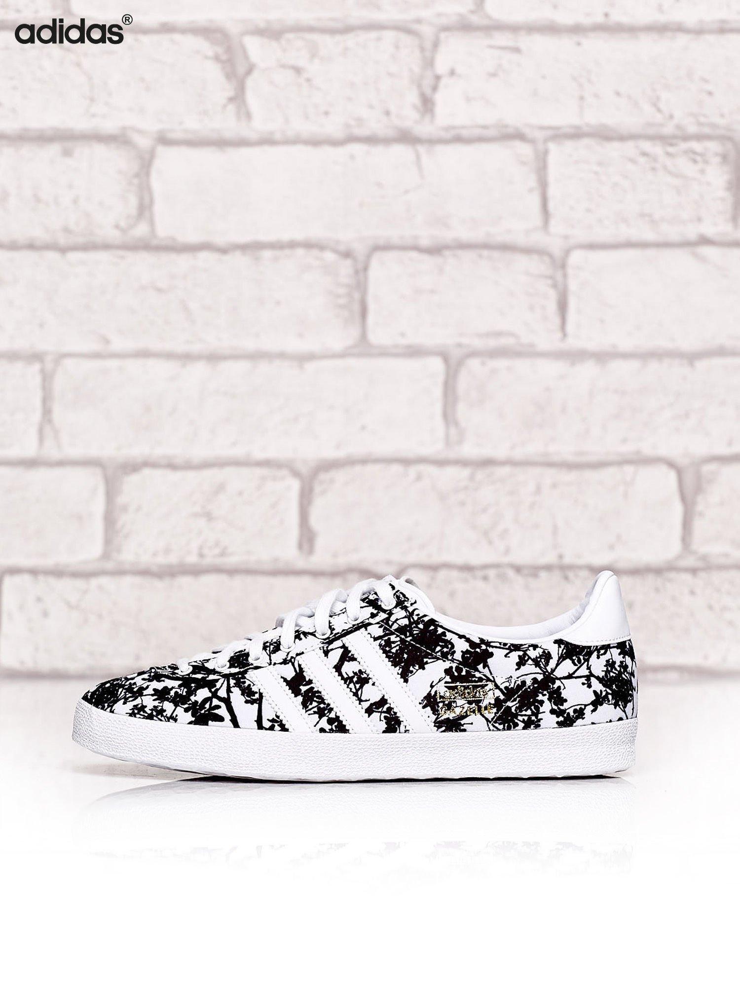 konkretna oferta kup tanio Data wydania: ADIDAS Białe damskie buty sportowe z motywem roślinnym