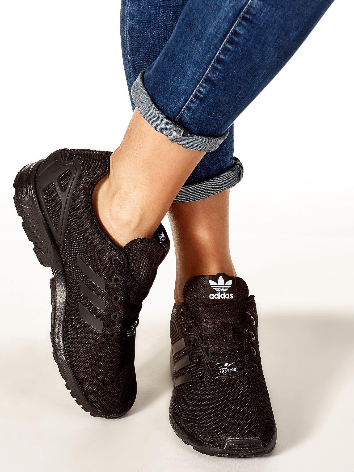 2ab607e4 ADIDAS Czarne buty sportowe o wyrazistej fakturze - Buty Buty ...