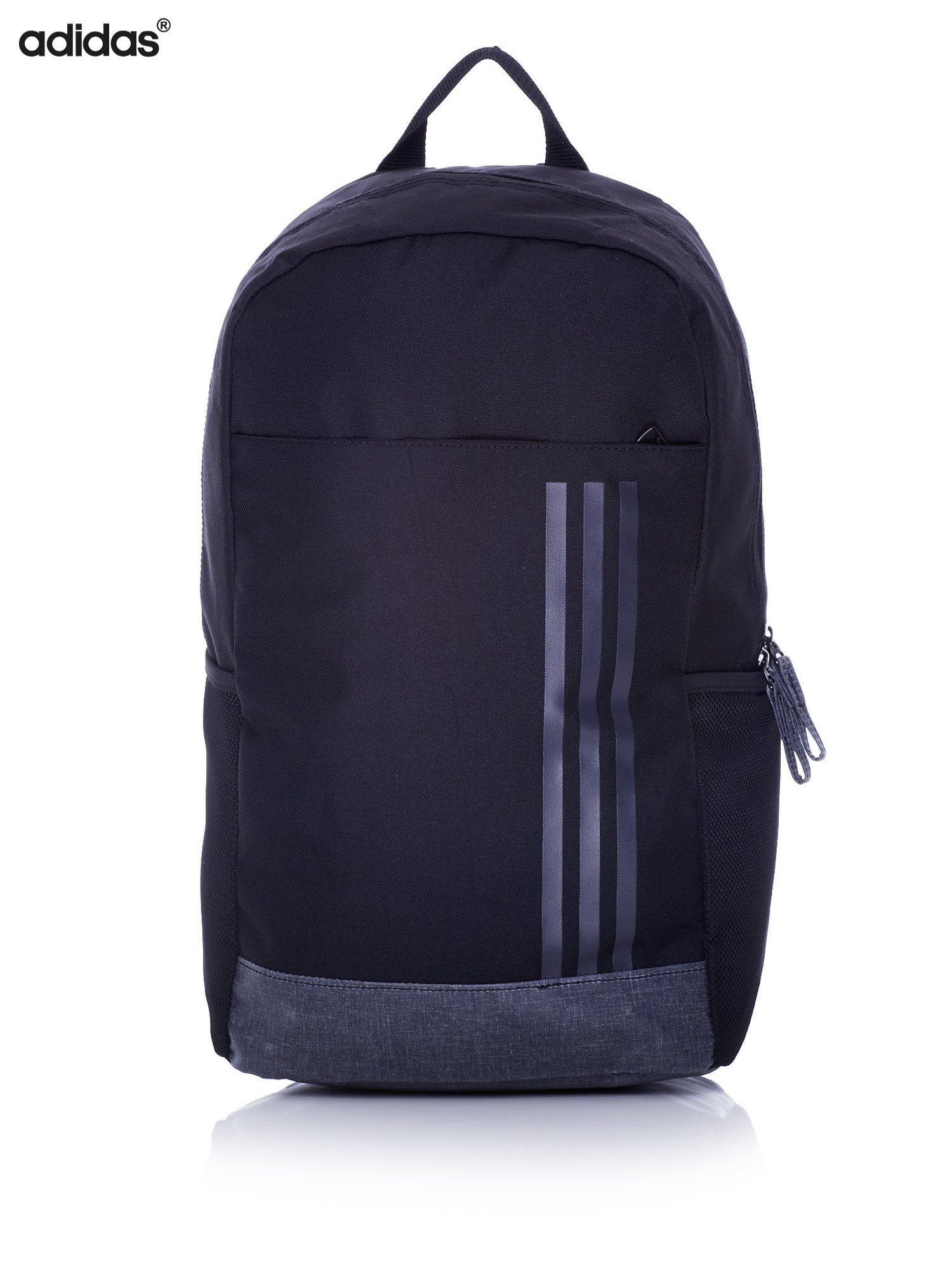 95961112fb470 ADIDAS Czarny plecak szkolny z bocznymi kieszonkami - Dziecko ...