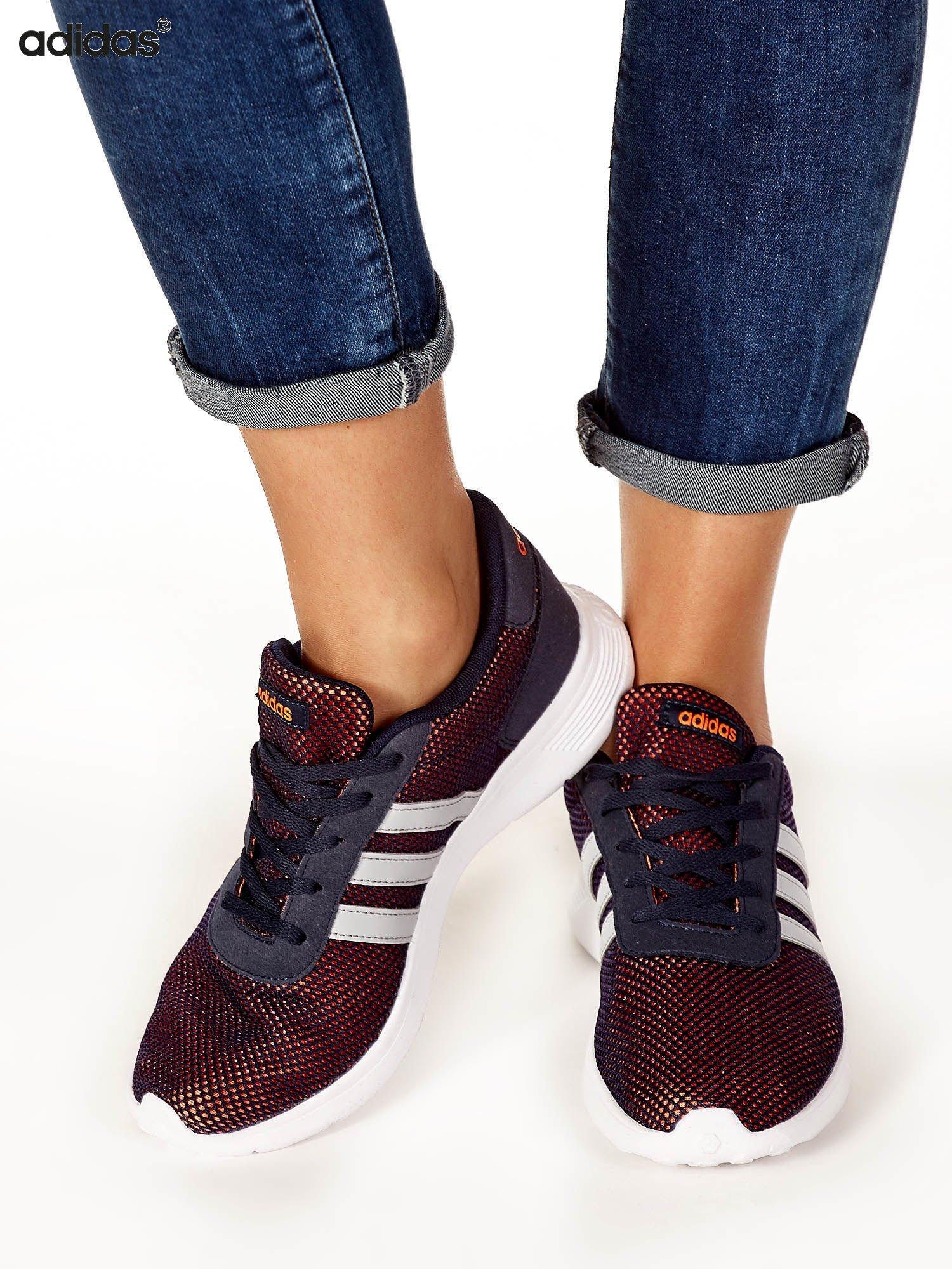 najniższa cena wykwintny styl popularna marka ADIDAS Granatowe siateczkowe buty sportowe damskie