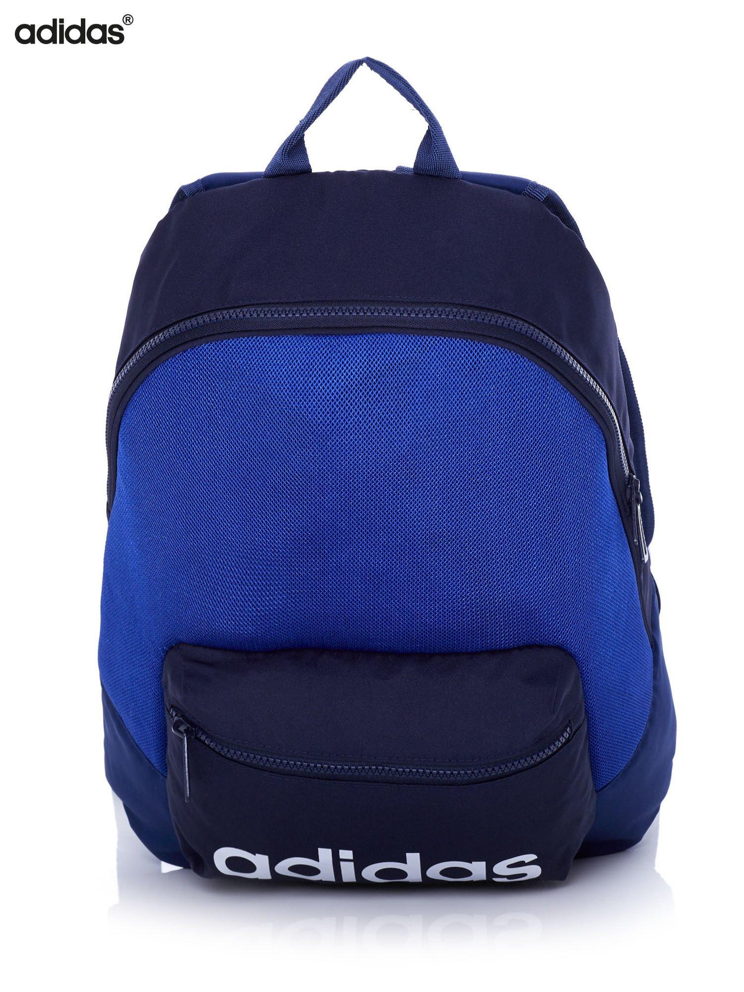 f6394411d581d ADIDAS Niebieski plecak szkolny z ozdobną kieszenią - Dziecko ...