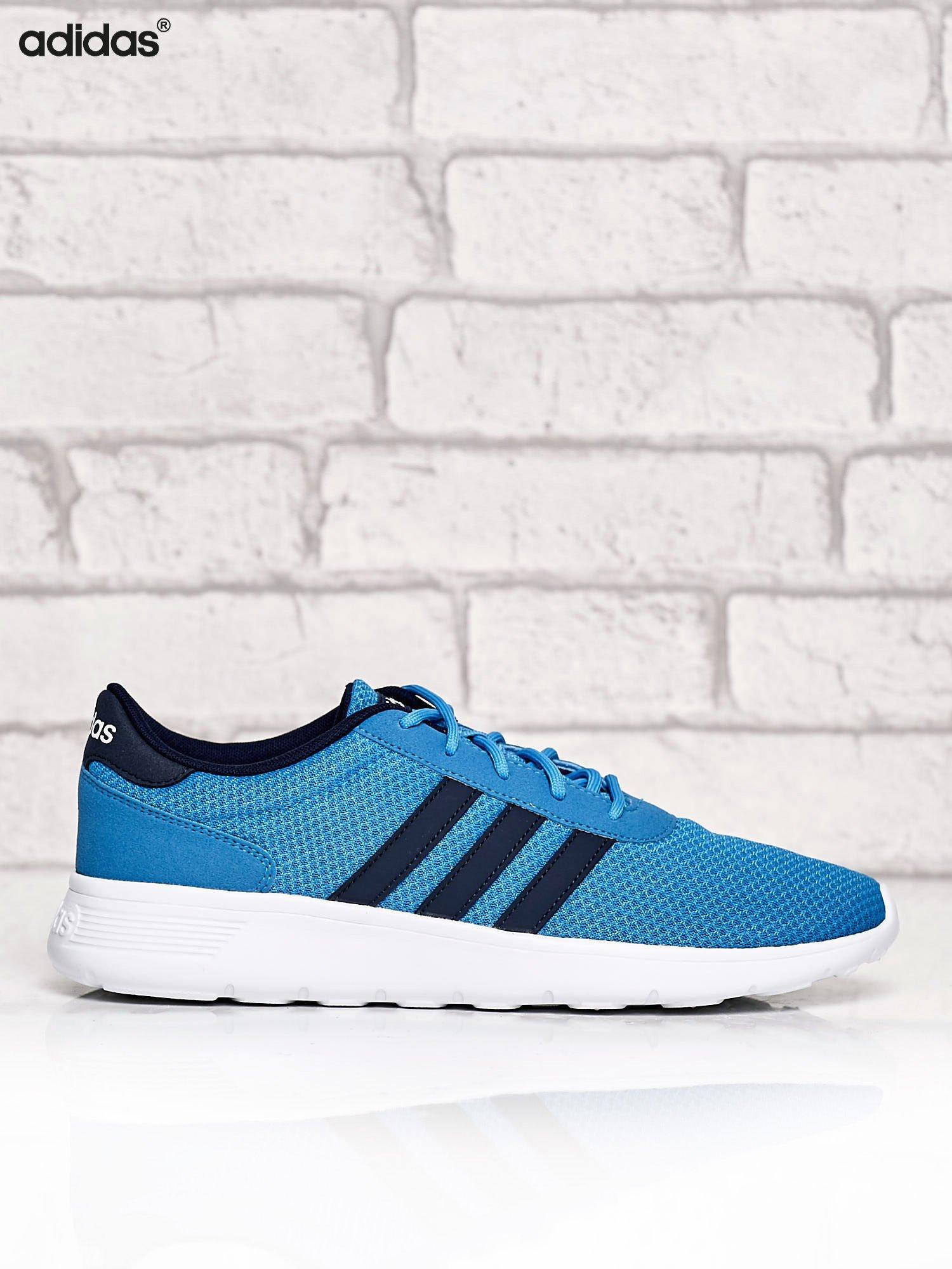 f5a6fdd8051c ADIDAS niebieskie buty męskie sportowe Lite Racer z wyższą podeszwą ...