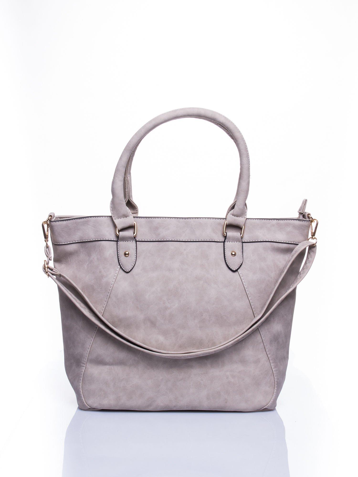 Beżowa torba city bag na ramię                                  zdj.                                  1